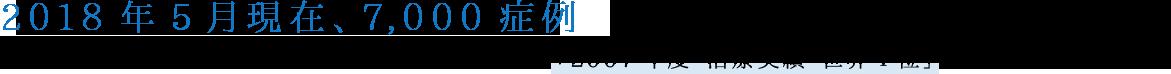 2016年12月現在、6,500症例 第7回世界サイバーナイフユーザー会において、「2007年度 治療実績 世界1位」で表彰を受けました